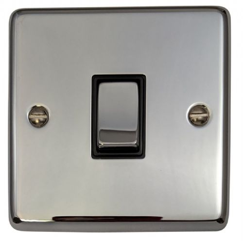 G&H CC301 Standard Plate Polished Chrome 1 Gang 1 or 2 Way Rocker Light Switch